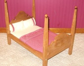 Wooden Early American Doll Bed