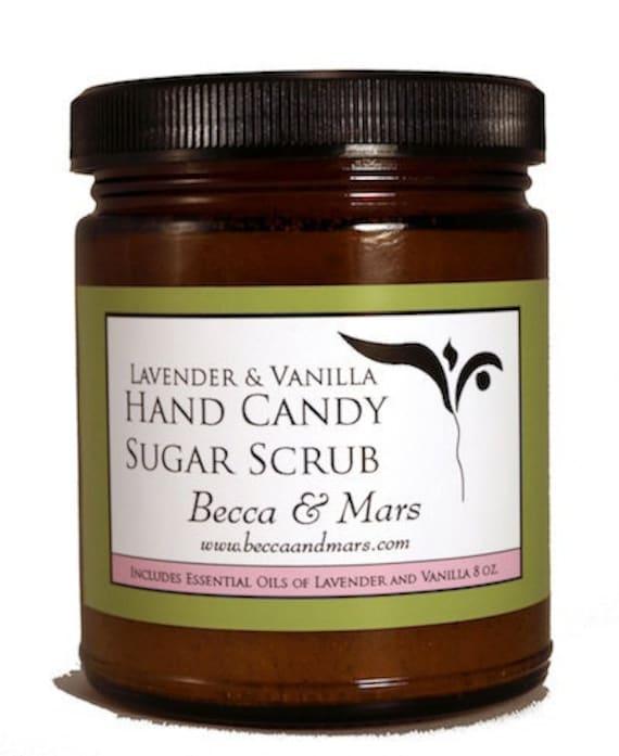 Lavender Vanilla Hand Candy Sugar Scrub, Sugar Scrub, Lavender Sugar ...