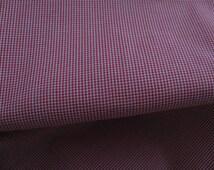 "Red Microcheck Batiste fabric, 45"" Spechler-Vogel, one yard"