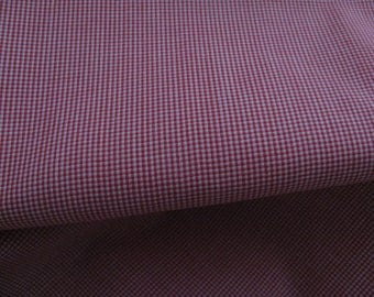 "Red Microcheck Batiste fabric, 45"" Spechler-Vogel, one yard"
