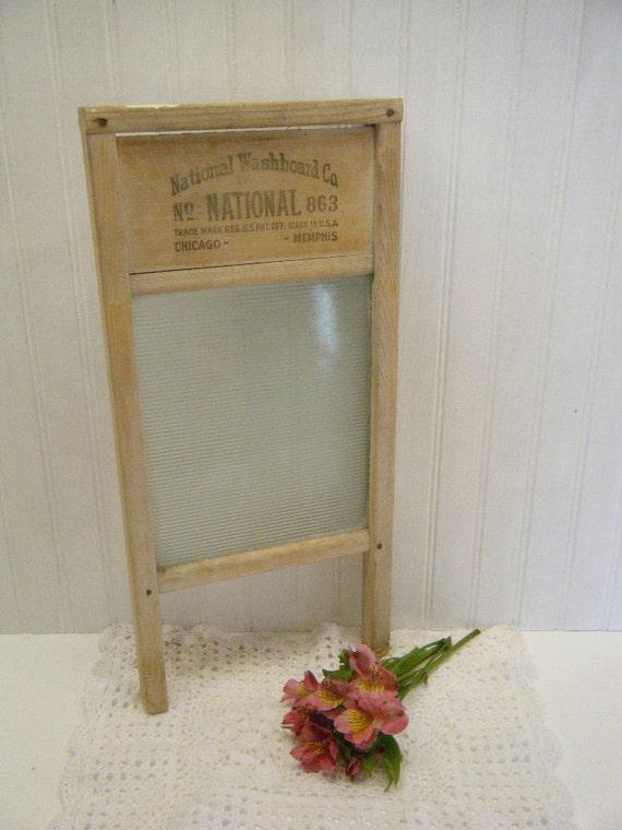 Vintage National Washboard Company Glass Washboard