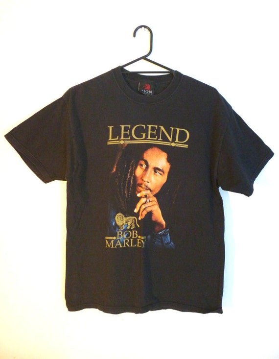 Vintage 1980s Large Bob Marley T Shirt 'Legend'