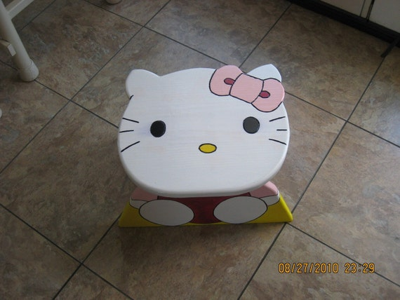 Hello Kitty Step Stool By Babaaya On Etsy