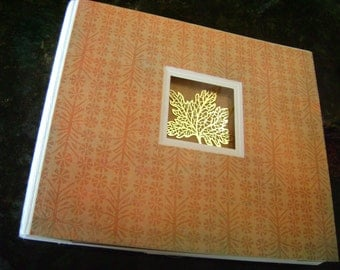 Autumn pre-made scrapbook with 30 pages for fall