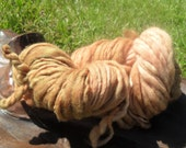 Cinnamon Apple- Tan  Hand Dyed Merino Wool Yarn- Thick and Thin Super Bulky 65 yards 3.5oz - GrandValleyFiber