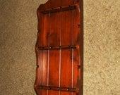 Wood Spoon Rack Holder Vintage Jewelry Rack