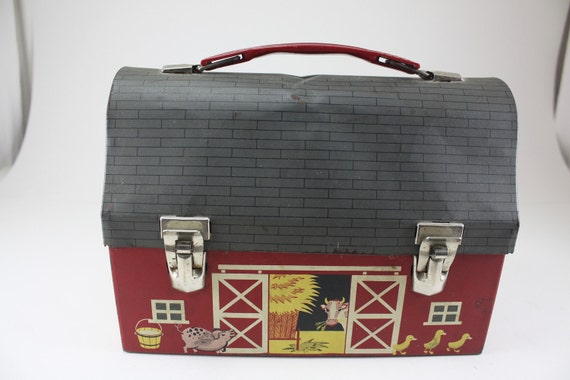 Vintage Thermos Barn Lunch Box