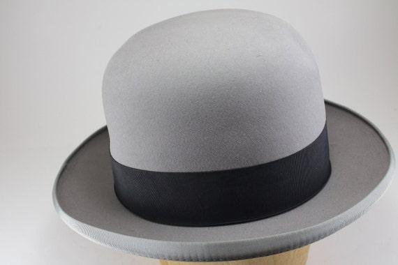 Reserved For David - Vintage Homburg Mans Hat In Gray