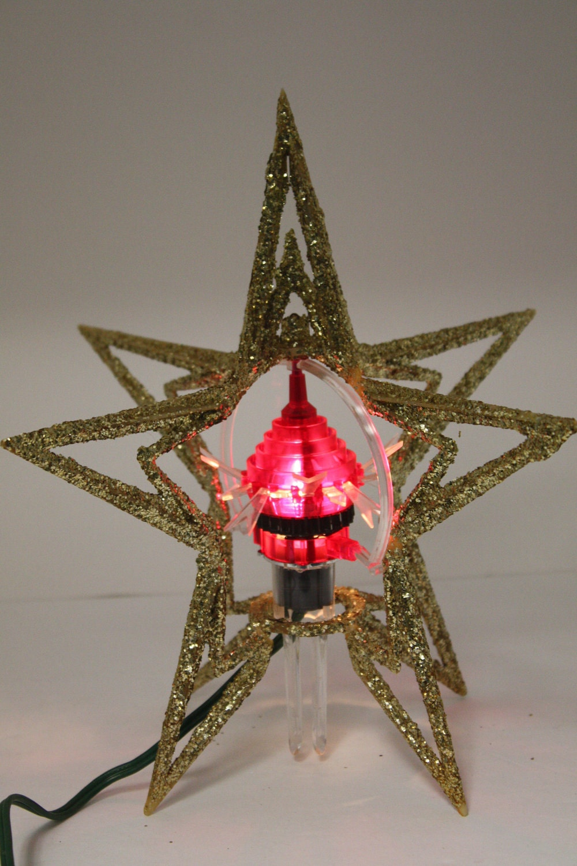 Vintage merry glow rotating spinning christmas tree by cybersenora