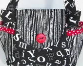 RED BLACK Quilted Purse, a HANNAH'S Handbag, by Victorien Von Pippenpuppen