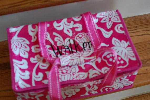Reusable insulated casserole carrier tote great for lunches, pool, pot lucks personalized monogrammed