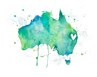 5x7 or 8.5x11 - Australia Love