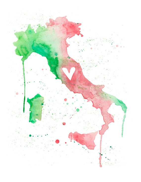 5x7 or 8.5x11 - Italy Love