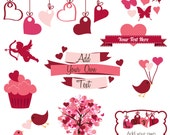 Valentines Day Clip Art Clipart, Valentine Clip Art Clipart - Commercial and Personal Use