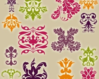 Damask Photoshop Brushes - Commercial and Personal