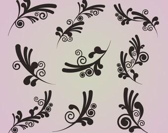 Swirls Clip Art Clipart Funky Swirls Clip Art Clipart - Commercial Use