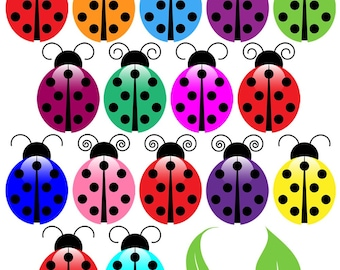 Ladybugs Clip Art Clipart, Ladybug Clip Art Clipart - Commercial and Personal