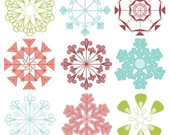 Snowflakes Photoshop Brushes Christmas Photoshop Brushes - Commercial Use