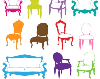 Chair Photoshop Brushes, Furniture Photoshop Brushes, Decor Photoshop Brushes - Commercial and Personal Use