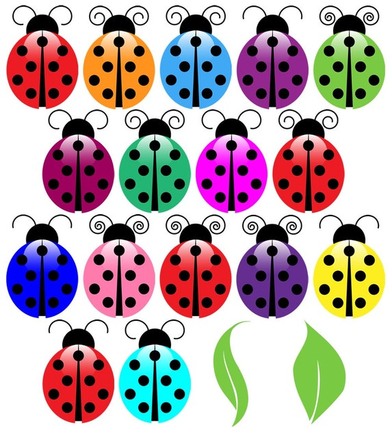 Ladybugs Clip Art Clipart, Ladybug Clip Art Clipart - Commercial and ...
