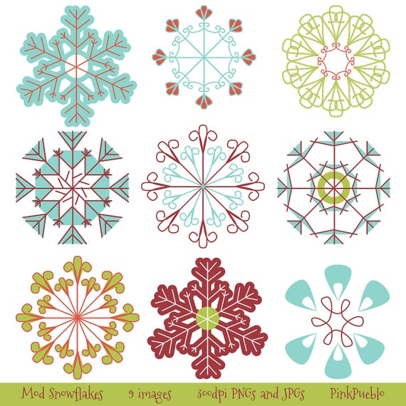 Snowflakes Clip Art Snowflakes Clipart - Commercial Use