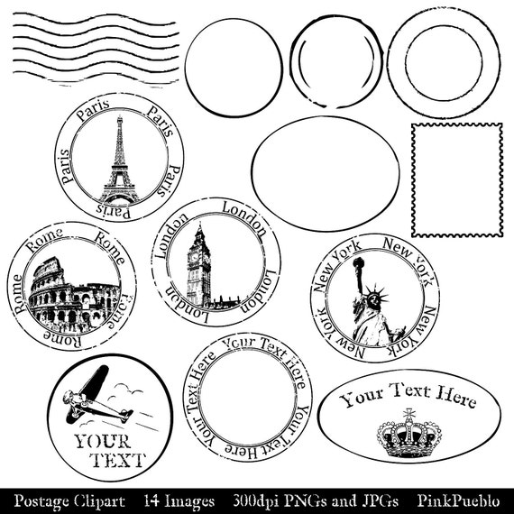 Postage Stamp Clip Art Black And White Postage Clip Ar...