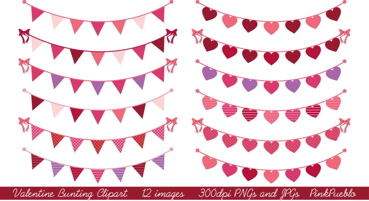 valentines day bunting clip art clipart valentines day clip art clipart valentine clip art clipart commercial and personal use