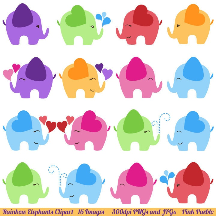 Elephant Clipart Elephant Clip Art Commercial and Personal