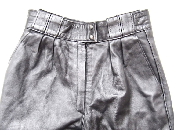 Black Leather Pants Extra Small CLEARANCE