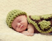 ONE WEEK SALE - Newborn Hatchling Turtle Cape Set - Photography Prop (Avalilable in different color)