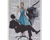 For the Love of Mad Men Print on a Vintage Book Page