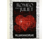 Romeo & Juliet on a Vintage Dictionary Page