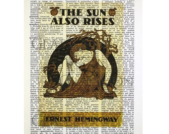 The Sun Also Rises on a Vintage Dictionary Page