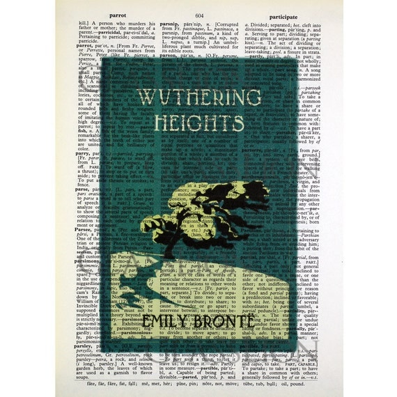 Wuthering Heights on a Vintage Dictionary Page