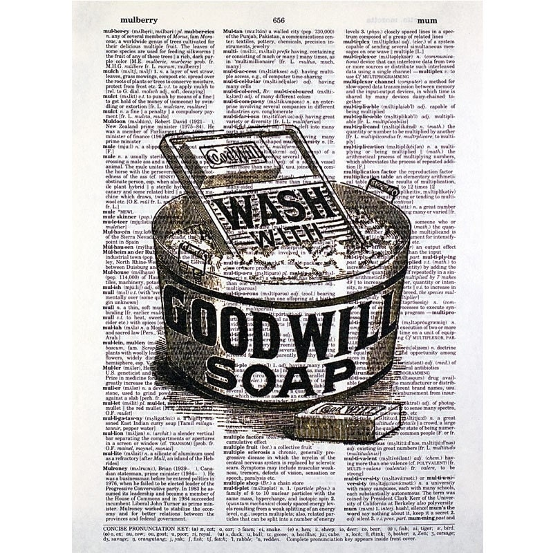 Washboard and Tub Laundry Print on a Vintage by glasslionstudio