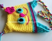 Newborn to Toddler- Kitty Cat Crochet hat  -Choose Your Colors-Made to Order
