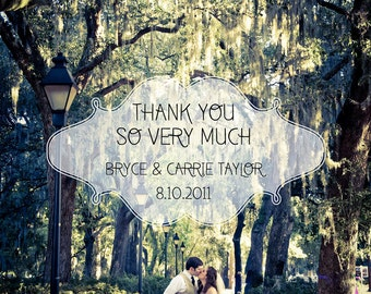 Cloud Wedding Thank You Card Design