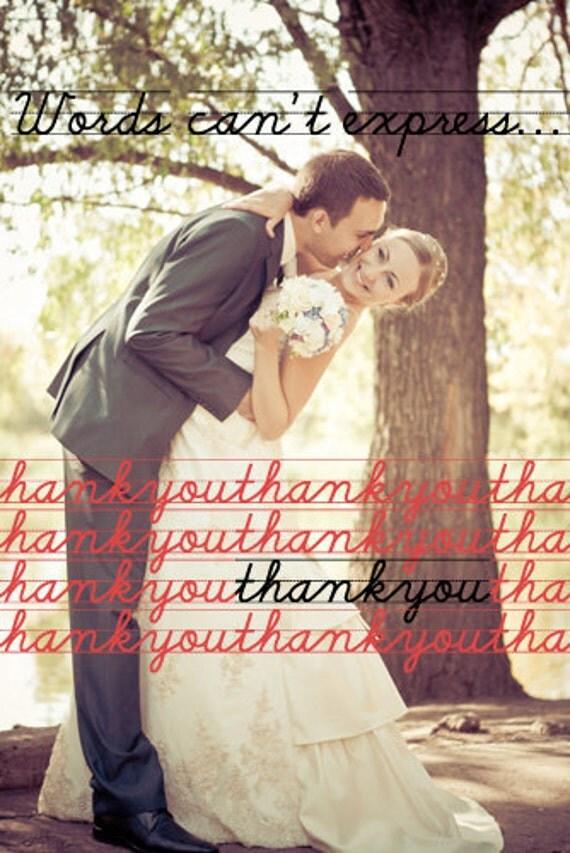 Chalkboard Wedding Thank You Card Design