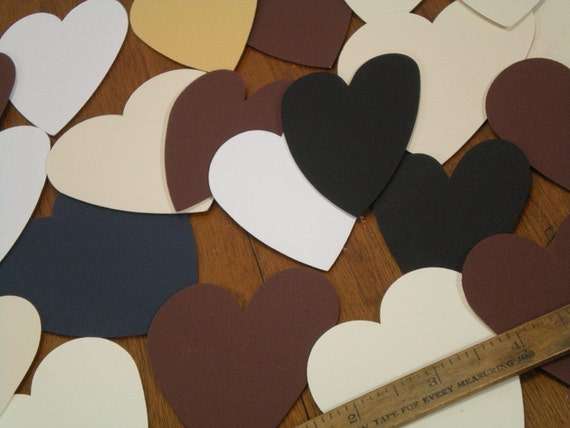 Destash Heart Shaped Matboard 26 Assorted Sizes for Crafting
