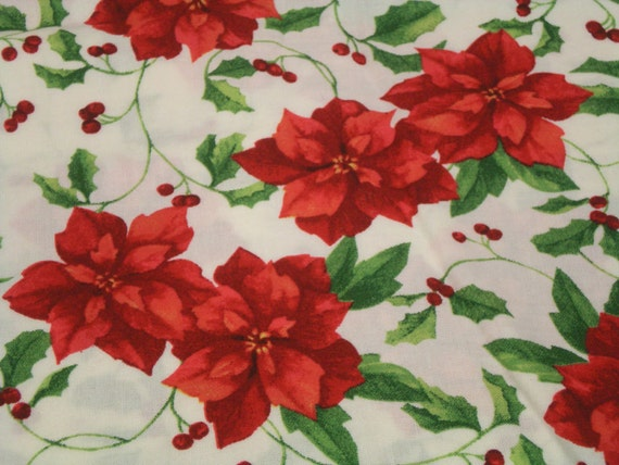 Christmas Fabric Cotton Material Over 4 Yards