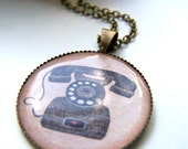 the vintage telephone pendant necklace.
