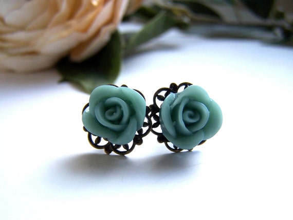 Petite Teal Lillian Stud Earrings
