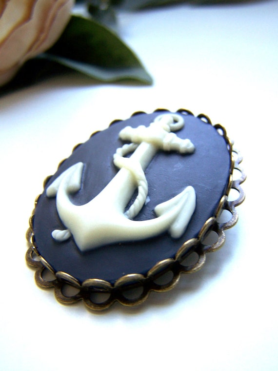 the blue anchor cameo brooch.