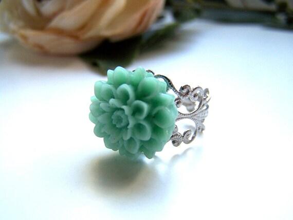 Mint Stella Ring