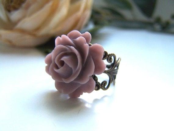 Plum Rose Ring