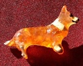 Set of Three Vintage Dog Pins in original boxes Bloodhound Corgi Collie