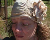 RESERVED... Angela... Jersey Cloche Hat