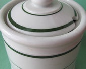 mustard pot wellsville china 1950s restaurant ware ironstone condiment jar jelly pot
