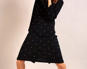 Black with Gold Studs Dress