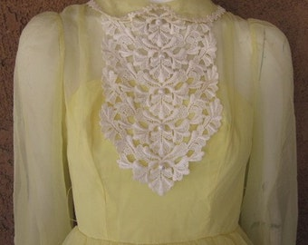 Lemon Chiffon Party / Prom / Bridesmaid Dress